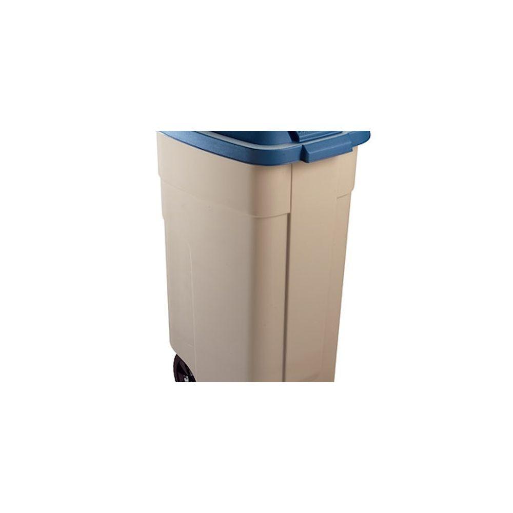 Rubbermaid Poubelle 100 litres + couvercle Rubbermaid tri sélectif bleue