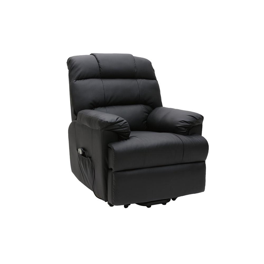 Miliboo Fauteuil relax électrique releveur noir PHOEBE