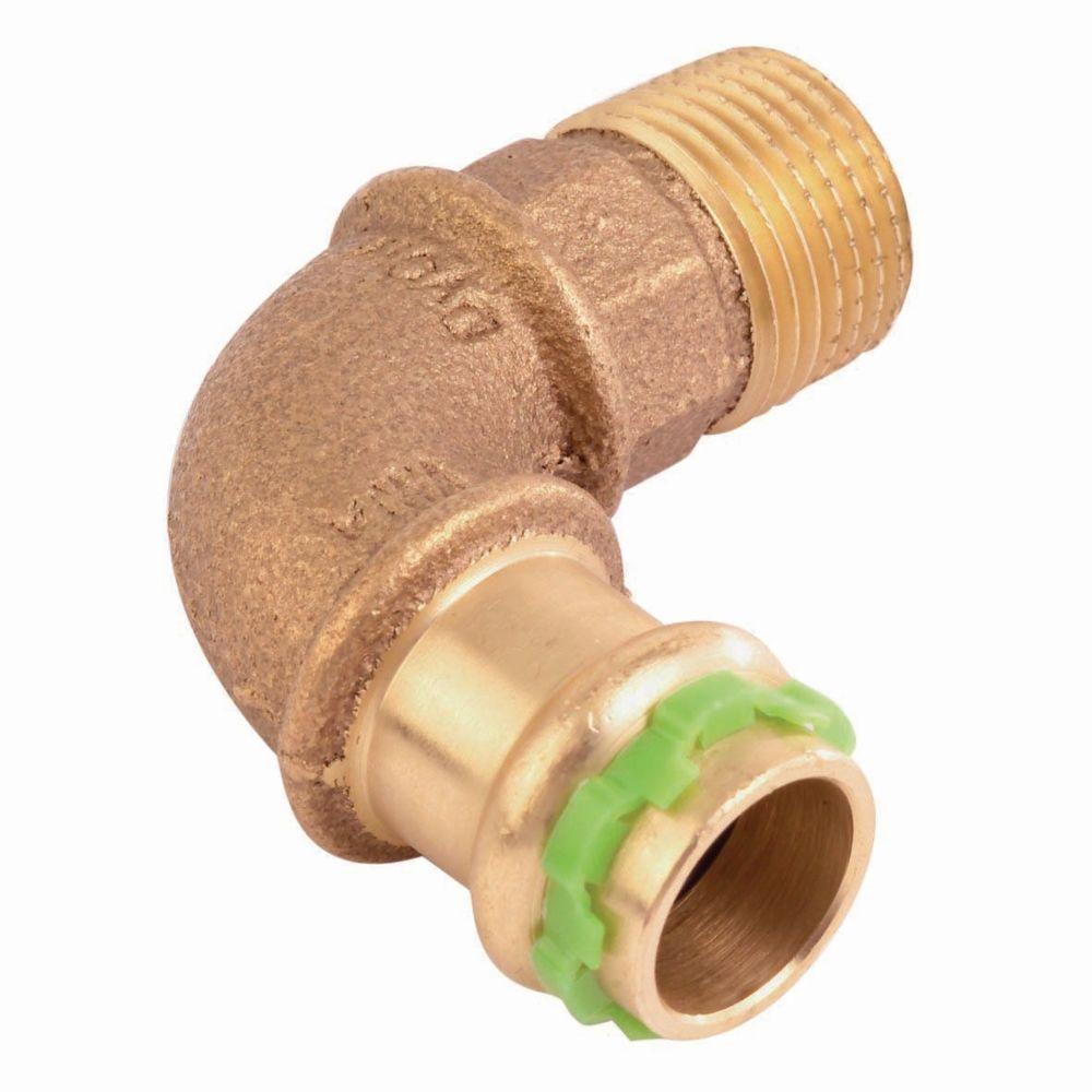 Comap coude à sertir 90 degrés - tube cuivre - femelle 22 mm / mâle à visser 20 x 27 mm - comap sudopress eau
