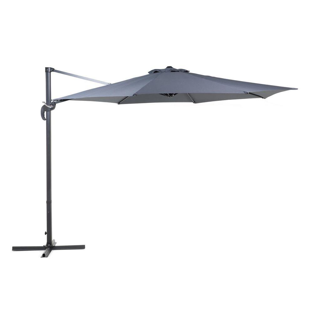 Beliani Beliani Grand parasol de jardin gris anthracite Ø 300 cm SAVONA - anthracite