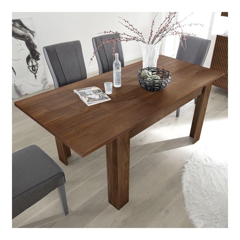 Sofamobili Table extensible 140 cm contemporaine couleur noyer PESCARA