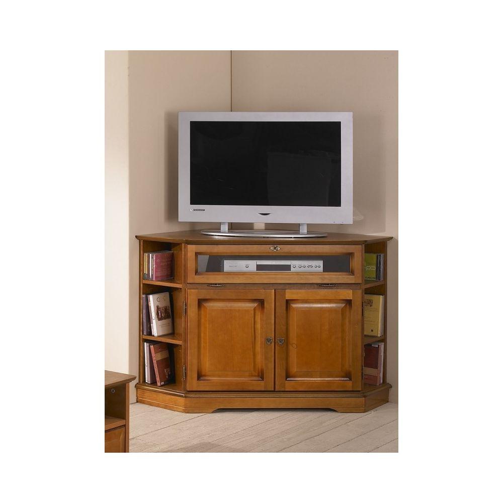 Beaux Meubles Pas Chers Meuble Tv D Angle 2 Portes Merisier Meubles Tv Hi Fi Rue Du Commerce