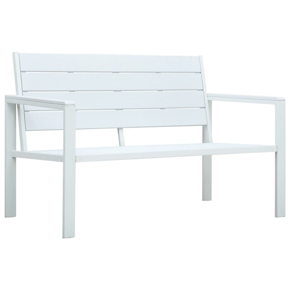Vidaxl vidaXL Banc de jardin 120 cm PEHD Blanc Aspect de bois