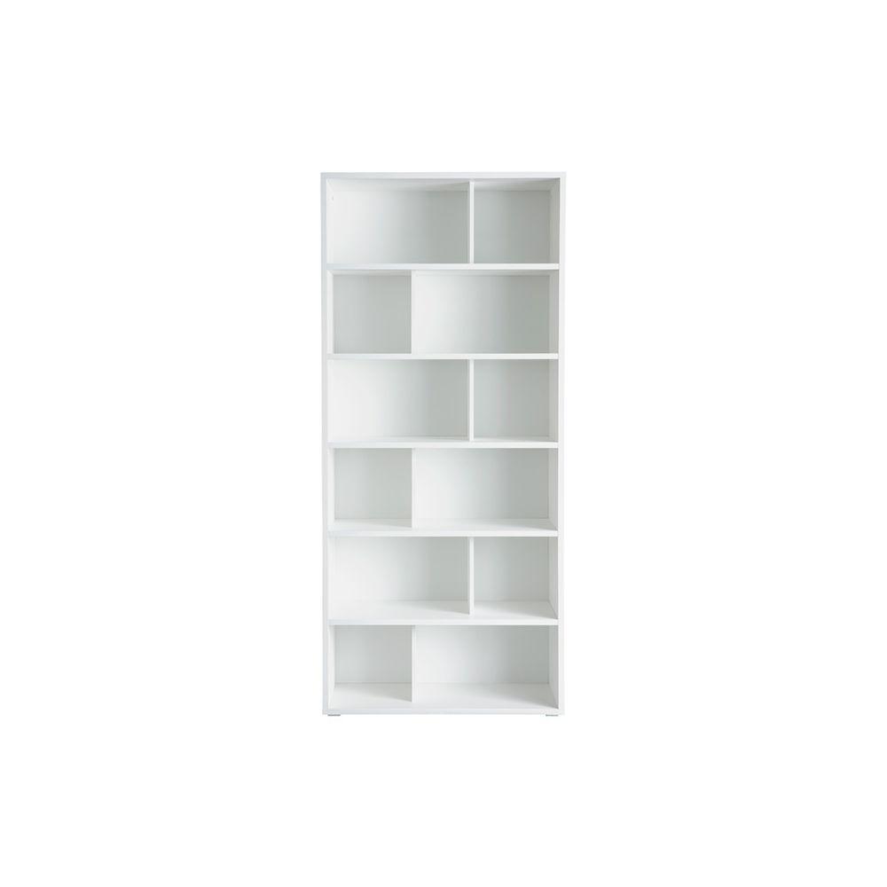 Miliboo Bibliothèque design bois blanc EPURE