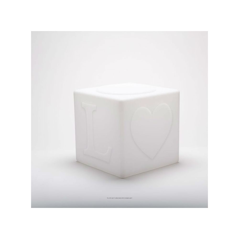 Goodnight Light THE LOVE LAMP-Cube LED sans fil avec télécommande RGB H43cm Blanc Goodnight Light - designé par Eva Newton