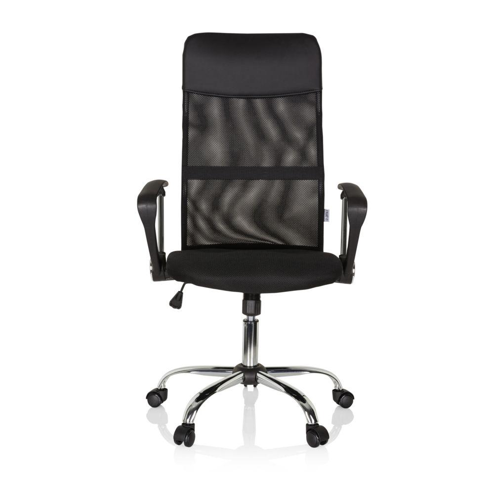 Hjh Office Chaise bureau / Fauteuil de direction PURE NET, tissu maille / simili cuir noir chrome hjh OFFICE