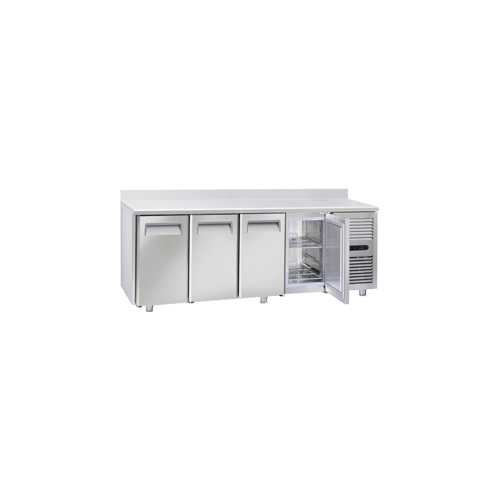 Materiel Chr Pro Table Réfrigérée Négative Tropicalisée Profondeur 700 - 4 Portes GN 1/1 et Dosseret - Cool Head - R290