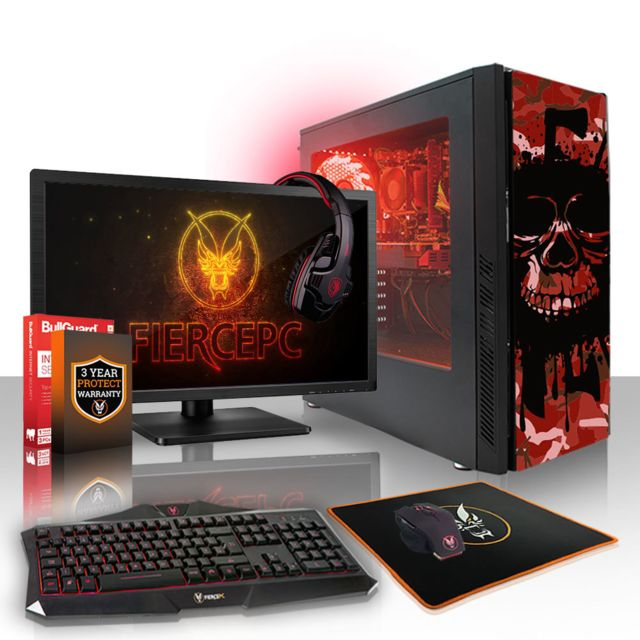 Fierce Pc - Fierce EXILE Gamer PC AMD Ryzen 3 2200G 4x3.7GHz 8Go Radeon Vega 8 Gaming Computer Ordinateur - Ordinateur de Bureau Gaming