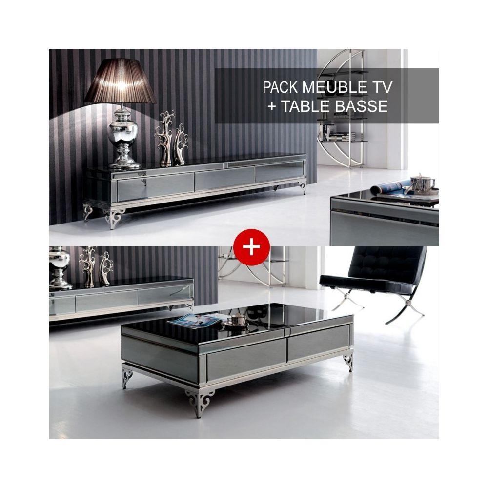 Meubler Design Ensemble meuble télé et table basse Elégante