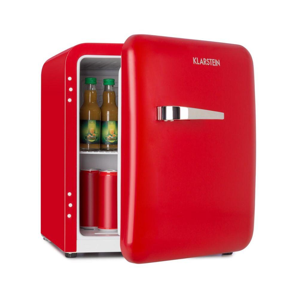 Klarstein Klarstein Audrey Mini réfrigérateur à boissons 48L - température 0 - 10 °C - classe A+ - look rétro rouge