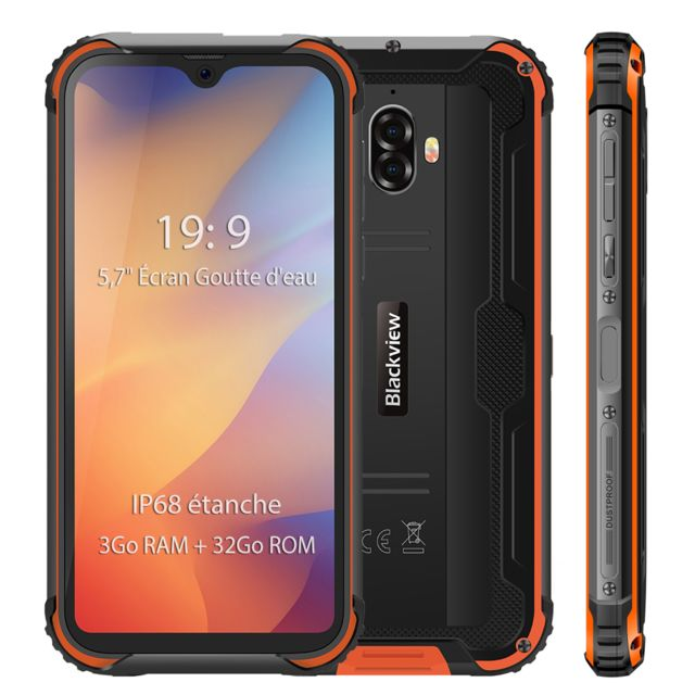 Blackview - Smartphone IP68 étanche 4G Blackview BV5900 5.7'' Écran 3Go Ram 32Go Rom Android 9.0 Téléphone portable Incassable - Orange - Smartphone Android