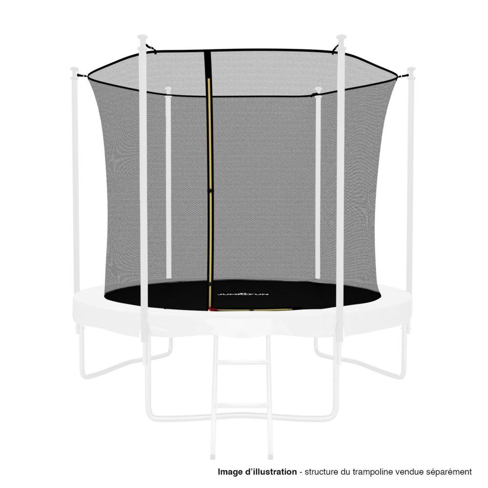 Kaia Sports Filet intérieur de sécurité pour trampoline avec bouchons hauts de perches et ficelle : ø 8Ft, 6 Perches