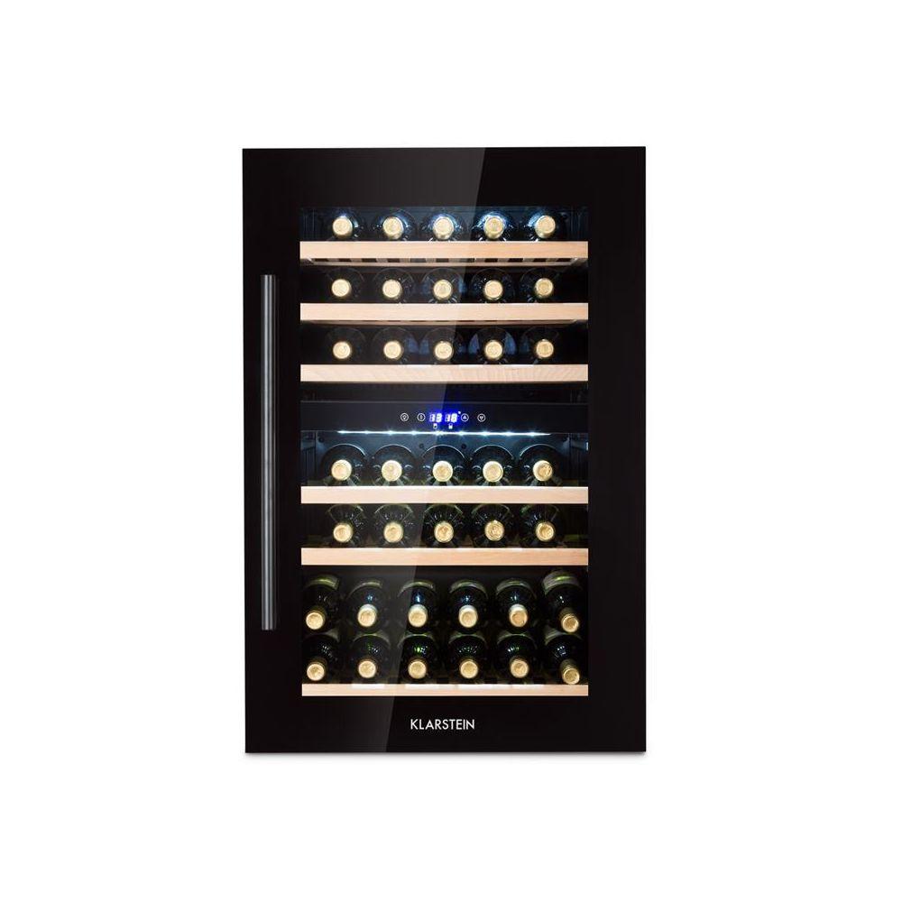 Klarstein Klarstein Vinsider 35D Onyx Cave à vin encastrable 41 bouteilles LED classe C klarstein