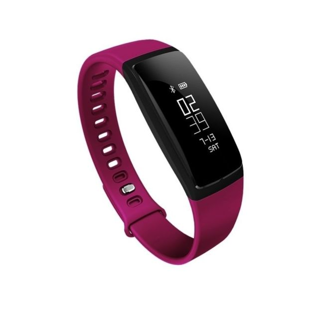 Yonis - Montre Connectée Femme iOs Android Smartwatch Waterproof Cardio Fushia - YONIS - Yonis