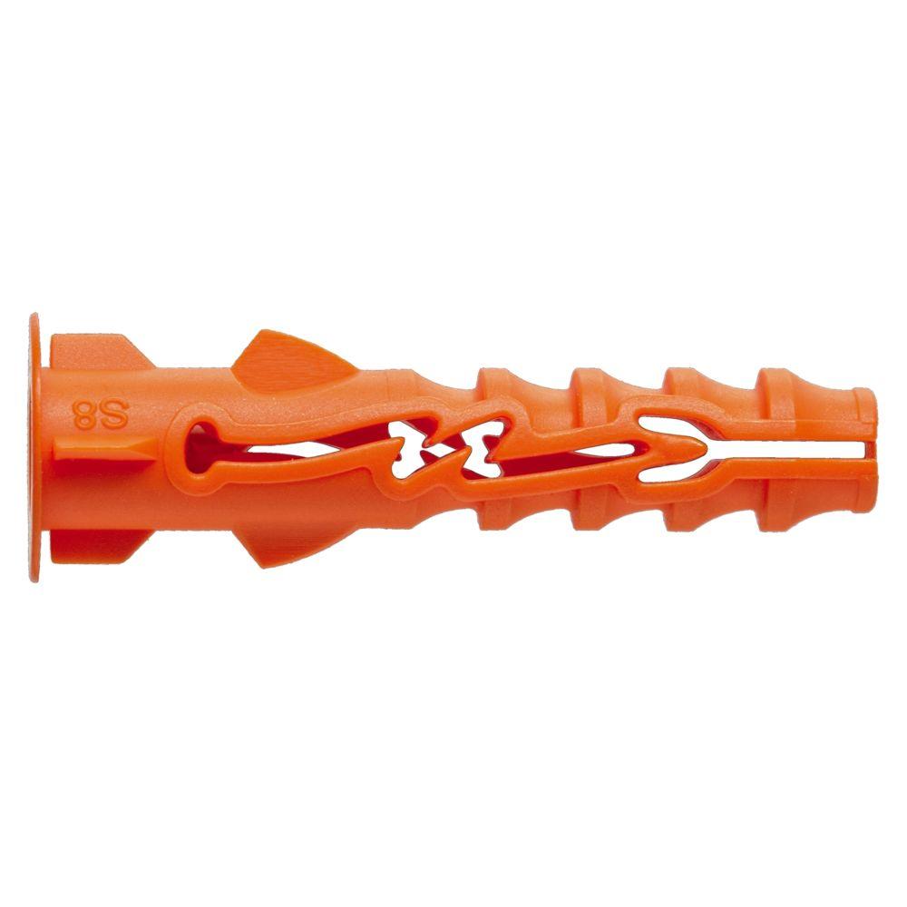 Spit cheville nylon - 5 x 25 mm - spit nyl - avec collerette - bidon de 800