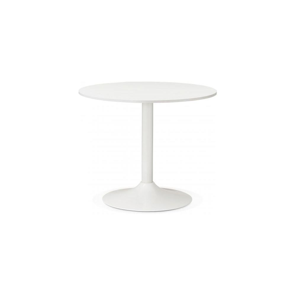 Kokoon Design Table Ronde Bois Blanche D90 ALBURY