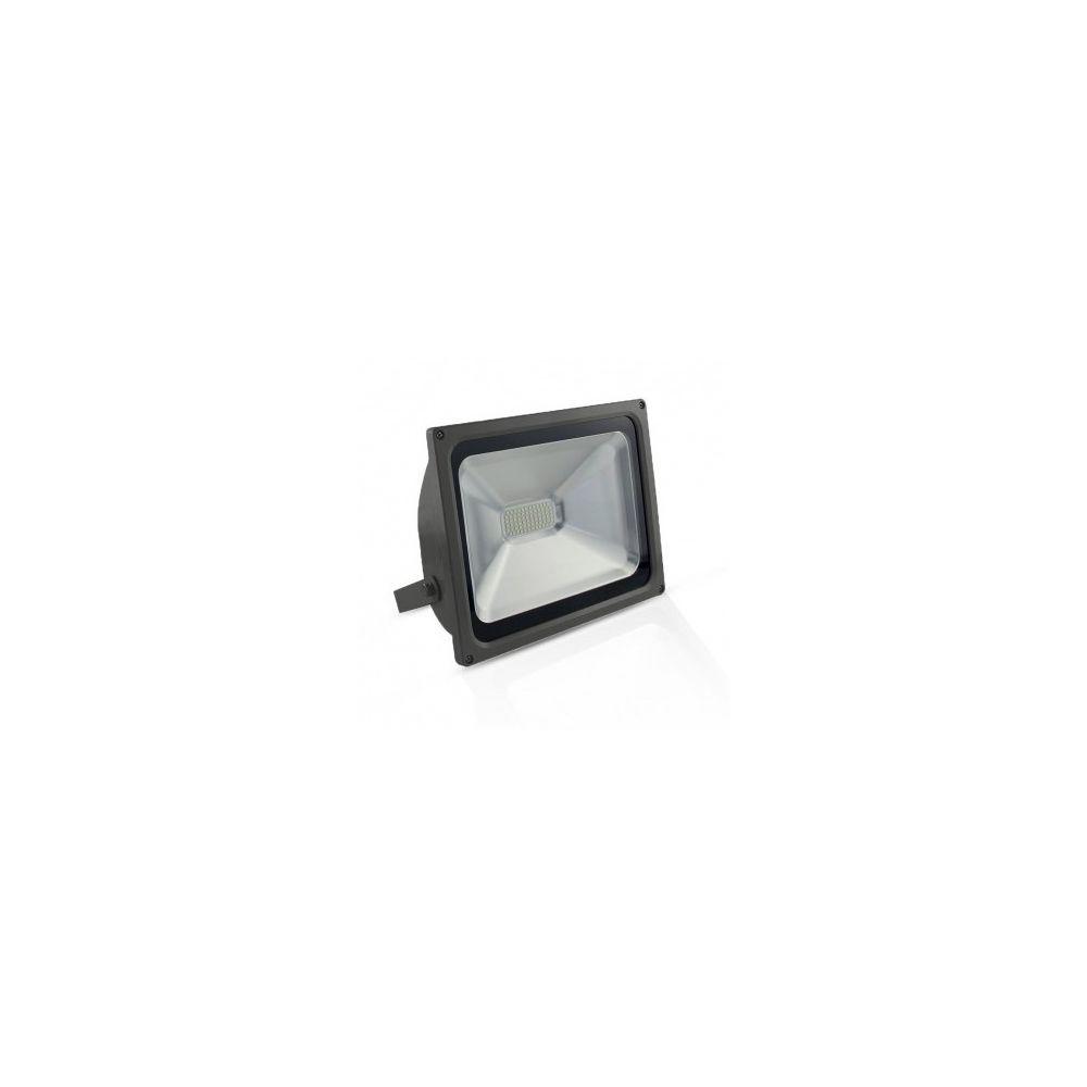 Vision-El Projecteur Exterieur LED Gris Plat 50W 3000 K