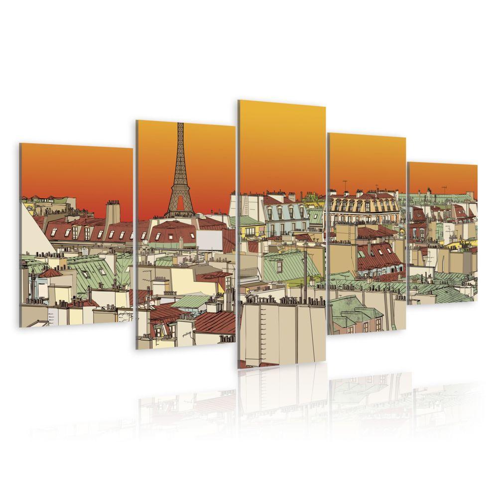 Declina Tableau - Ciel parisien en couleur de l'orange