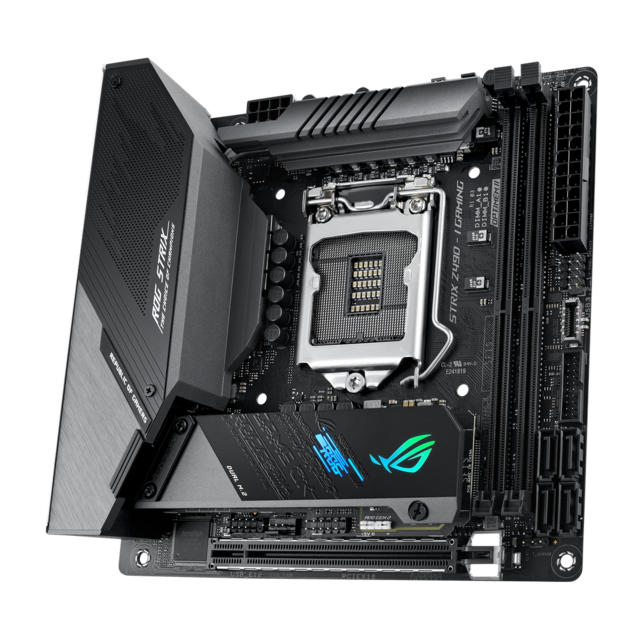 Asus - INTEL Z490-I ROG STRIX GAMING - Mini-ITX - Carte mère Intel