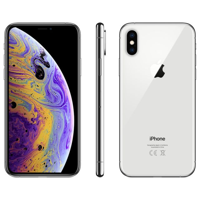 Apple - iPhone XS - 256 Go - MT9J2ZD/A - Argent Apple   - iPhone 256 go