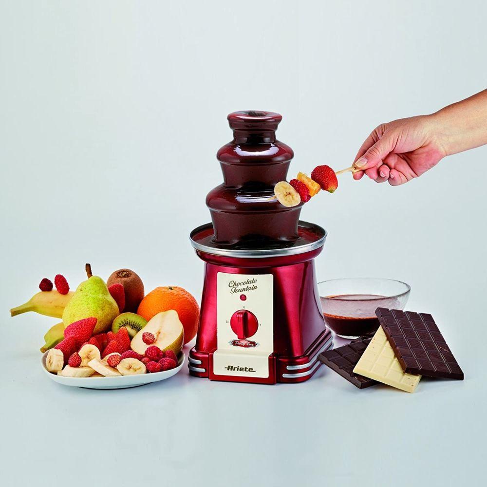 Ariete fontaine à chocolat 90W rouge gris