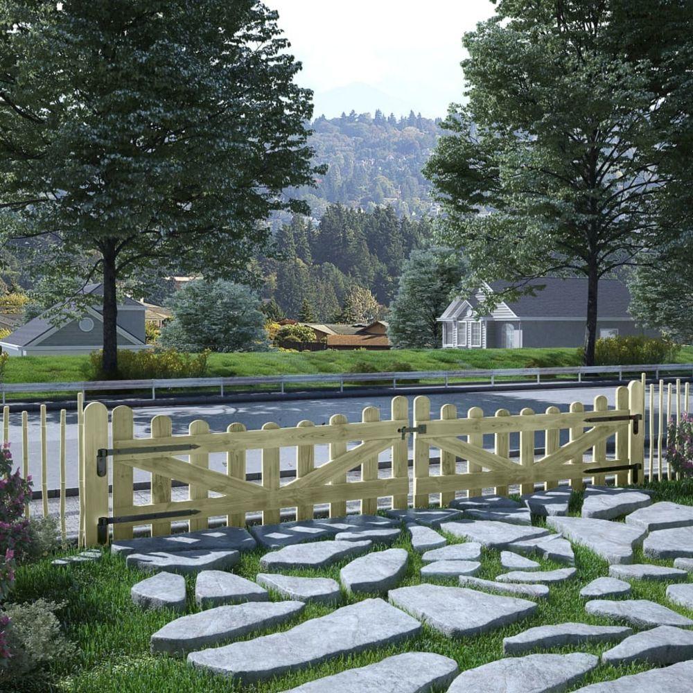 Uco UCO Portillons de jardin 2 pcs Pin imprégné 150 x 60 cm