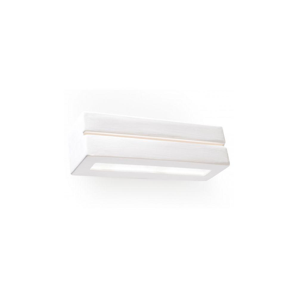 Luminaire Center Applique murale VEGA LINE céramique blanc 1 ampoule