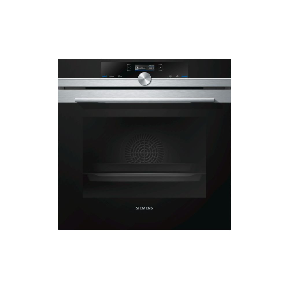 Siemens siemens - four intégrable 71l 60cm a+ pyrolyse inox/noir - hb673gbs1f