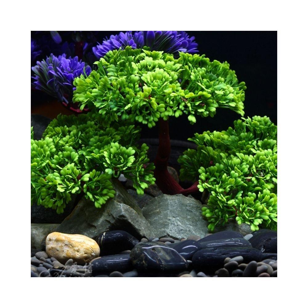 Wewoo Décoration aquarium Artificielle Arbre Plant Figurines D'herbe Miniatures Fish Tank Paysage, Taille: 24,0 x 17,0 cm