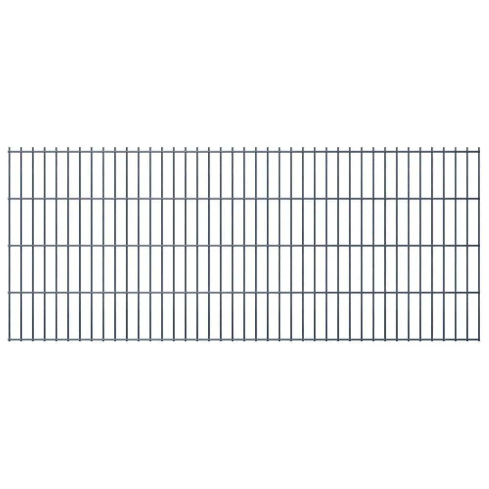 Uco UCO Panneaux de clôture 2D pour jardin 2008x830 mm 10 m gris