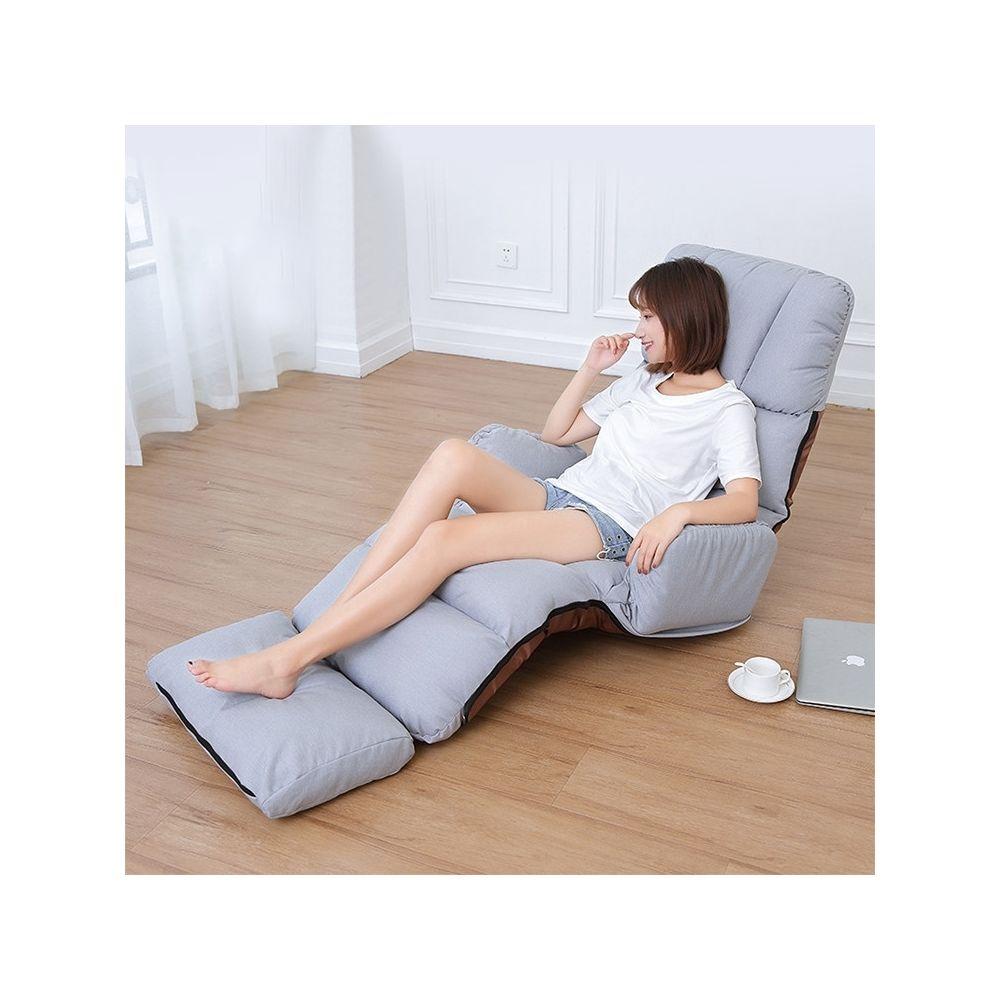 Wewoo C5 Lazy Canapé-lit Chambre Accoudoir de loisirs Inclinable Canapé simple Gris