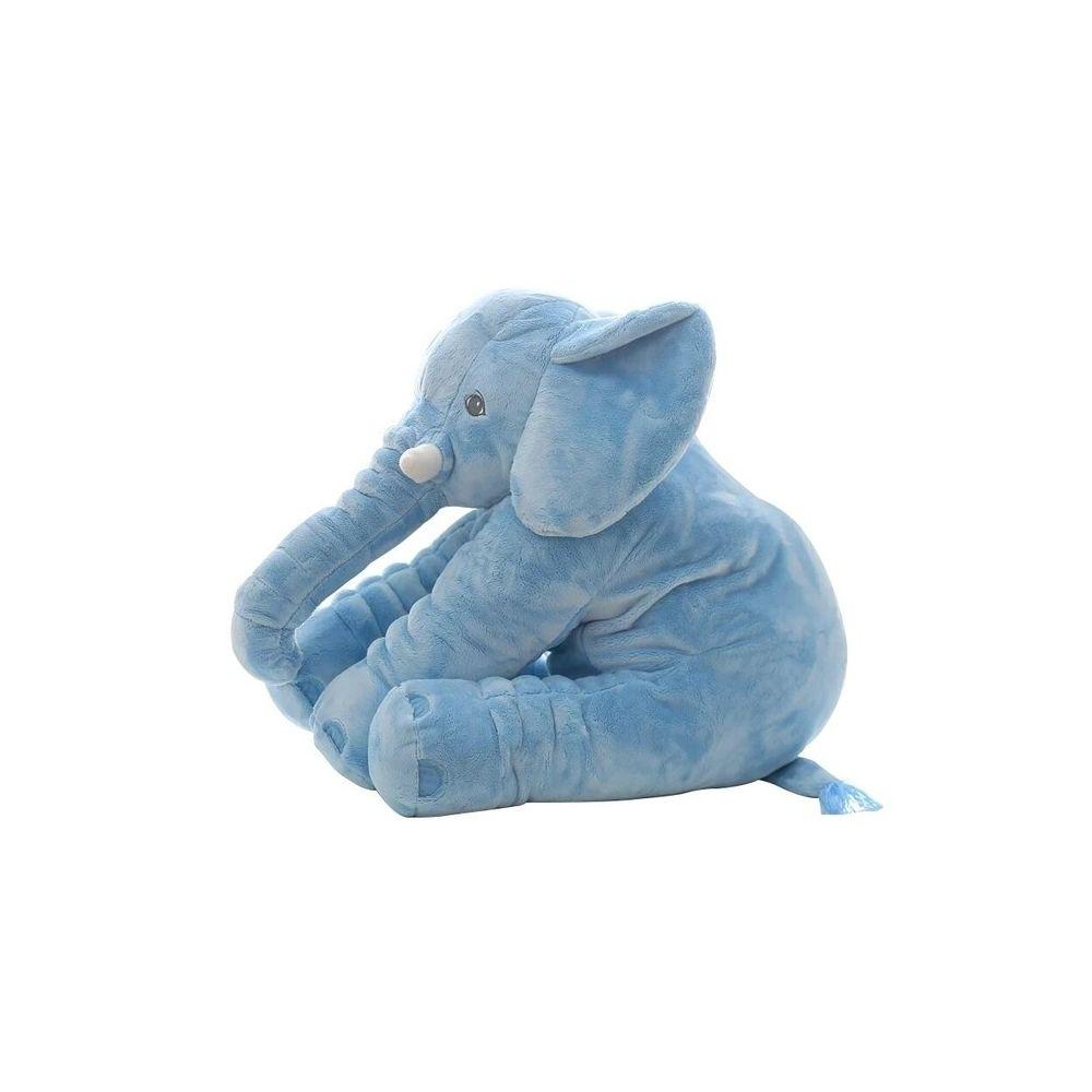 Wewoo Peluche Éléphant Poupée Jouet Enfants Coussin Dos Bébé En MignonHauteur 60cm 800g Bleu