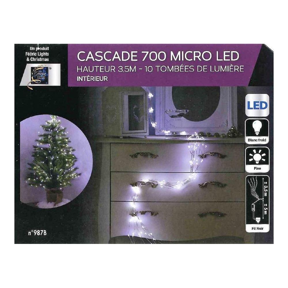 JJA Guirlande copper cascade 700 LED blanc froid