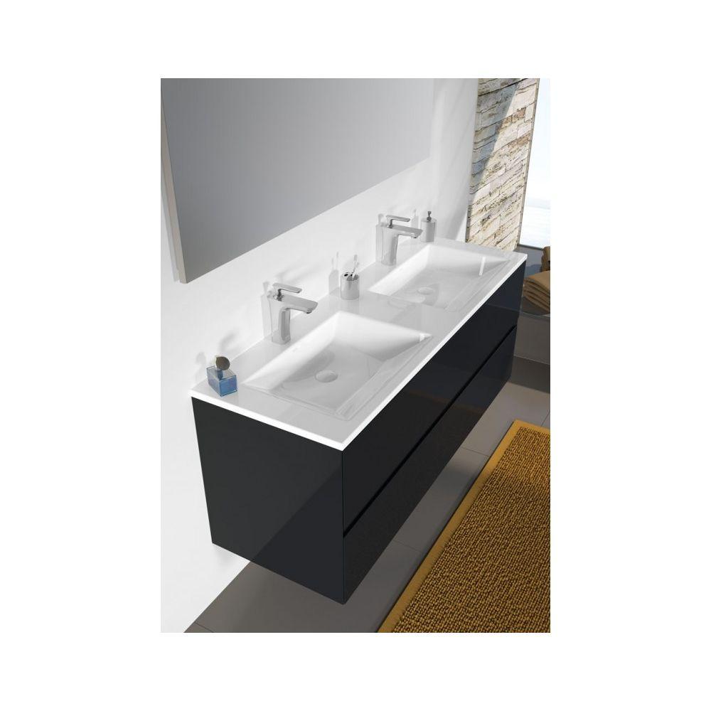 Riho Ensemble meuble & lavabo RIHO ARDEA SET 15 en bois 120x47,5x H 56 cm - Bois laqué brillant