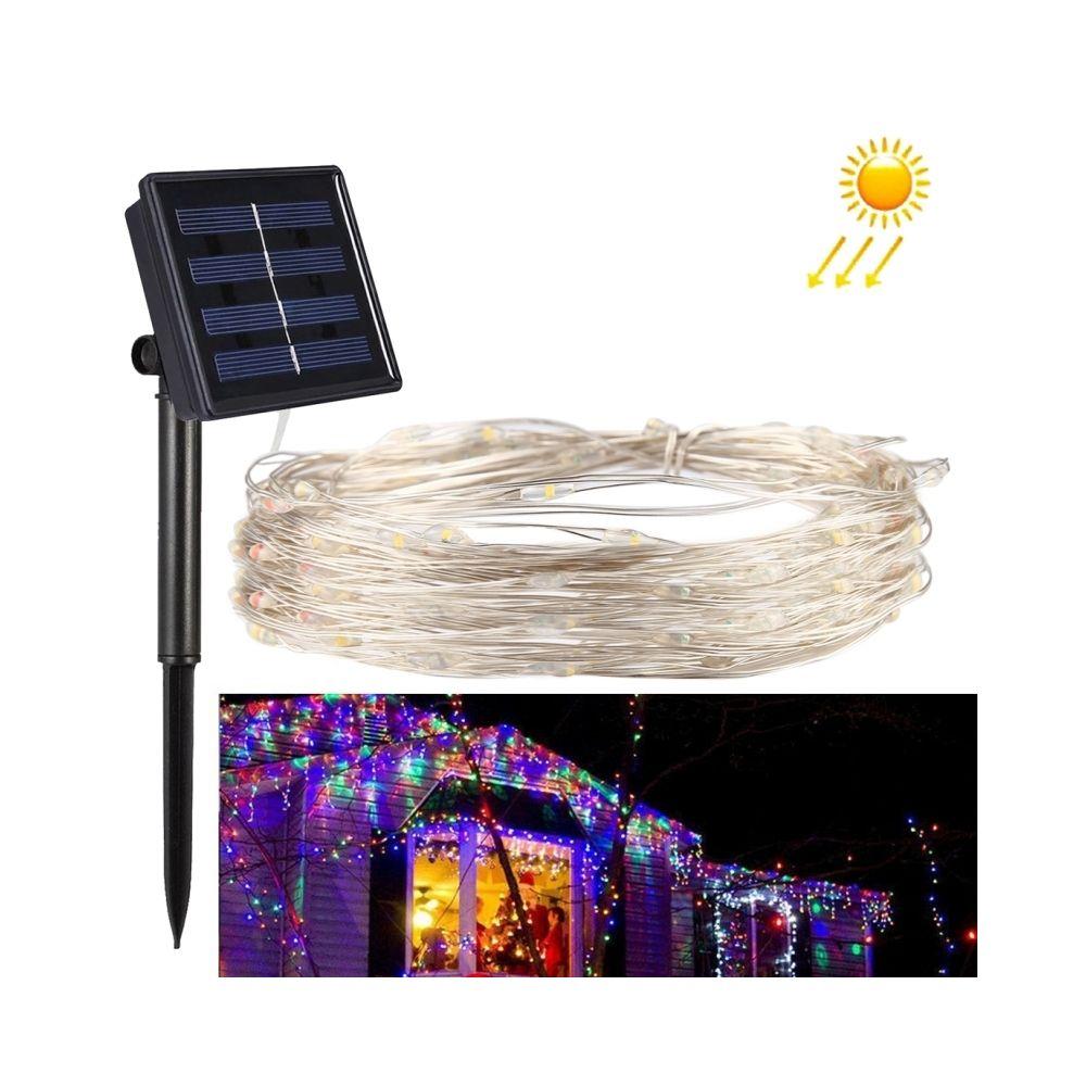 Wewoo Guirlande 20m 100 LEDs SMD 0603 IP65 étanche panneau solaire fil d'argent chaîne fée lumière lampe décorative colorée