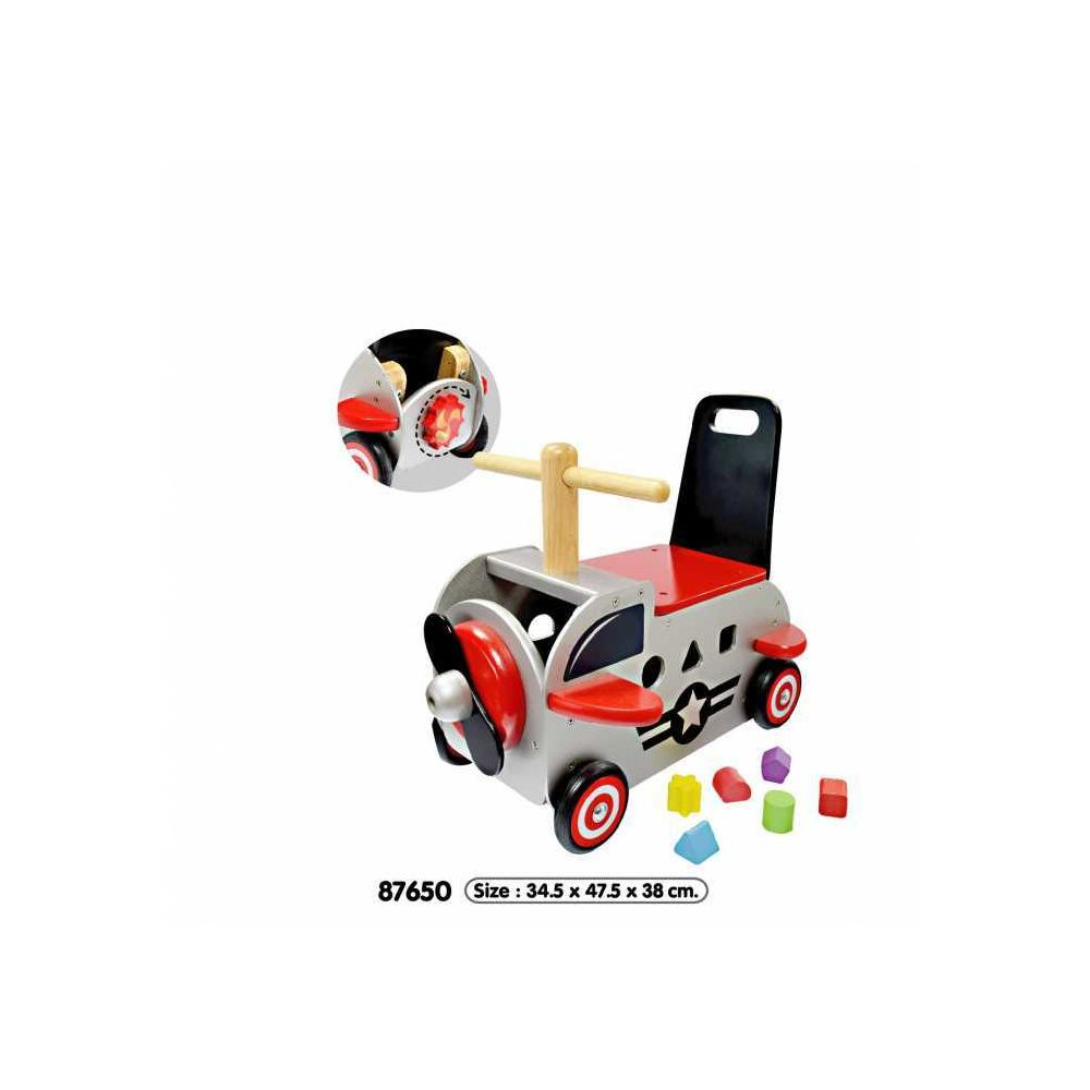 I M Toy Porteur multifonctions petit avion en bois
