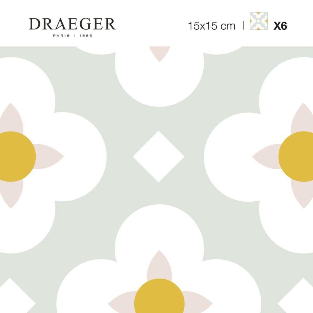Nouvelles Images Carrés adhésifs - Fleurs blanches et ocres