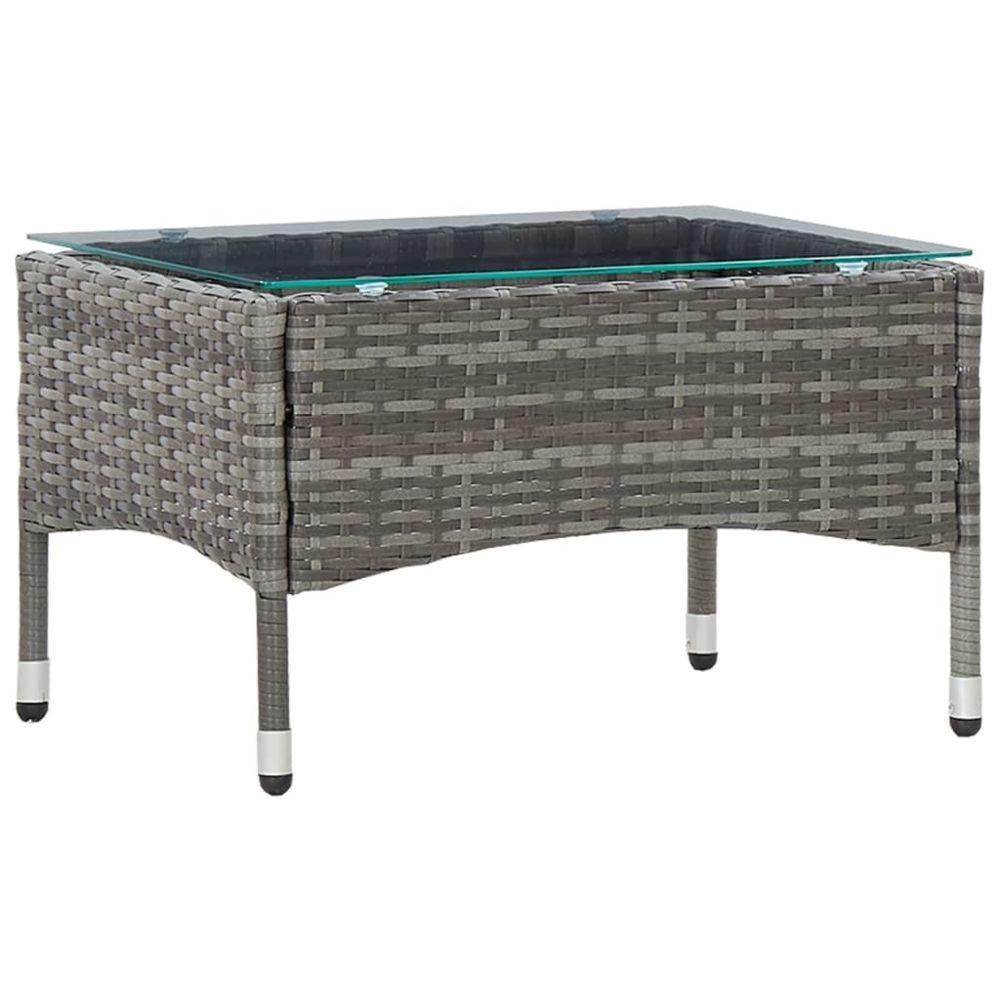 Vidaxl vidaXL Table basse Gris 60x40x36 cm Résine tressée