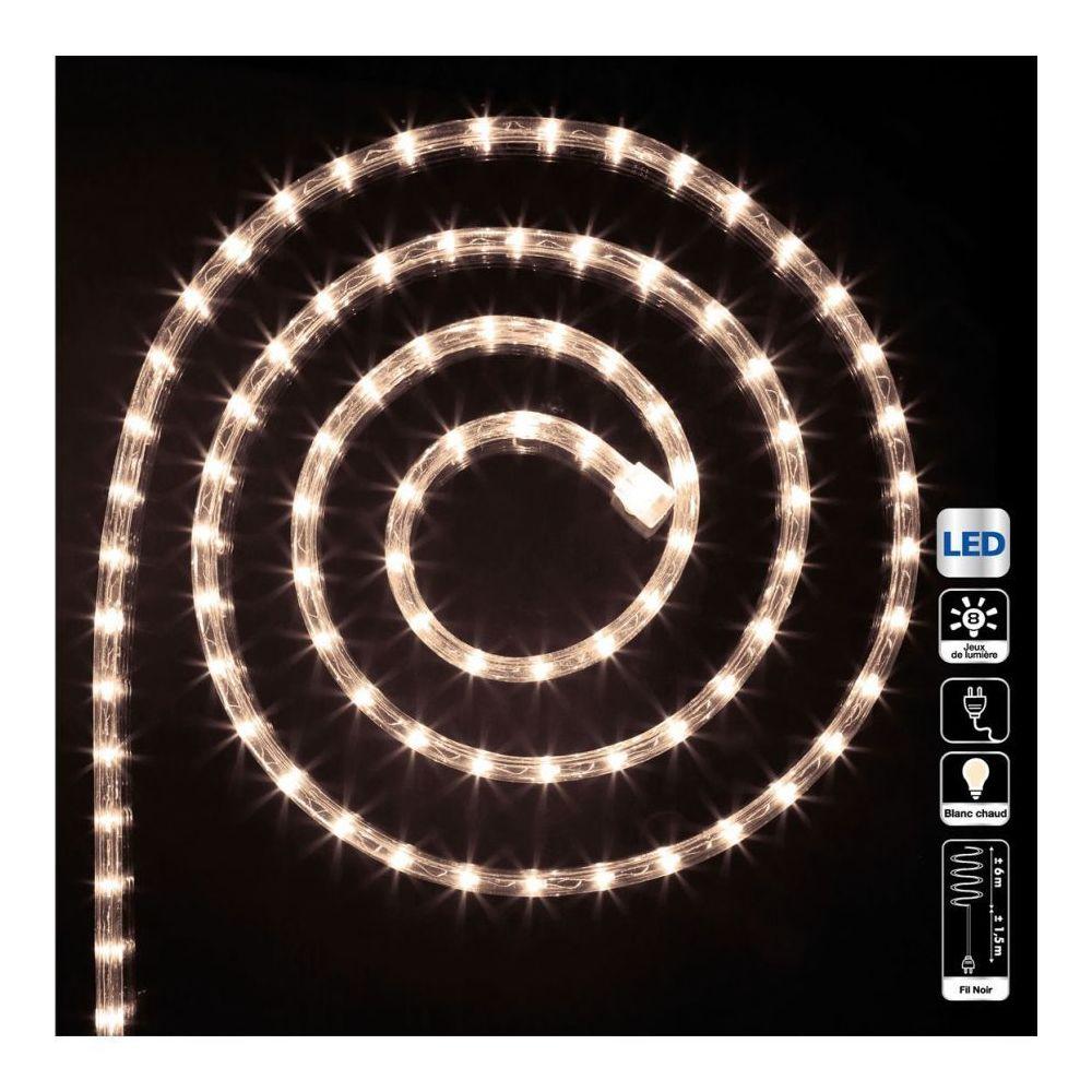 JJA Tube LED lumineux 6 mètres ext/int coloris blanc chaud
