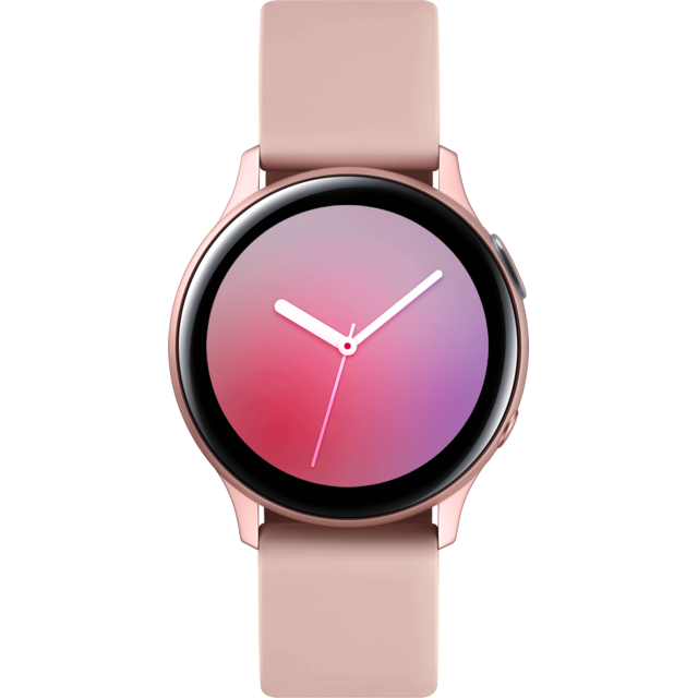 Samsung -Galaxy Watch Active 2 - 40 mm - Alu Rose - Bracelet Rose velours Samsung  - Montres et bracelets Samsung Galaxy