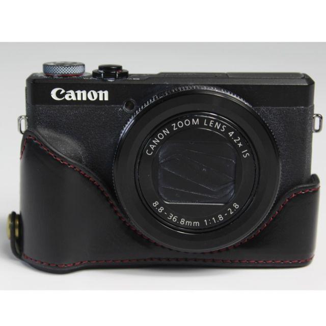 G16 vhbw Pochette Taille M Noir pour cam/éra Appareil Photo Canon Powershot G15 G1X G7X S110 S120 cam/éscope G5x G1X Mark II G3x G9X