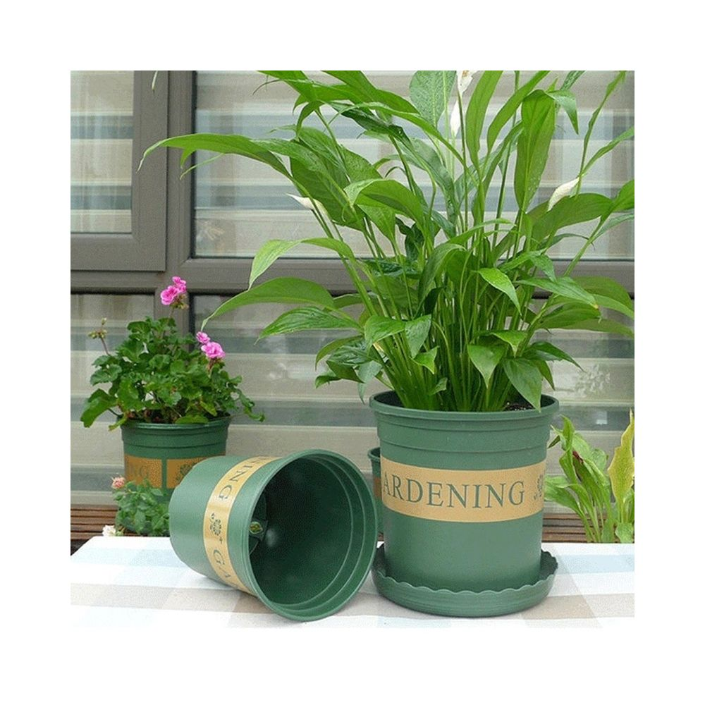 Wewoo Pots de fleurs plantes Pépinières en plastique Creative gallons avec plateau, taille: 15 * 22 * 18cm