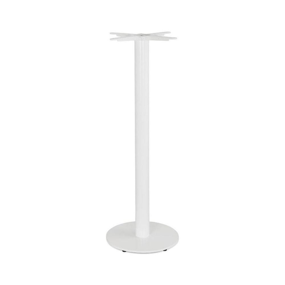 Paris Prix Pied de Table Rond Design Kirst 110cm Blanc