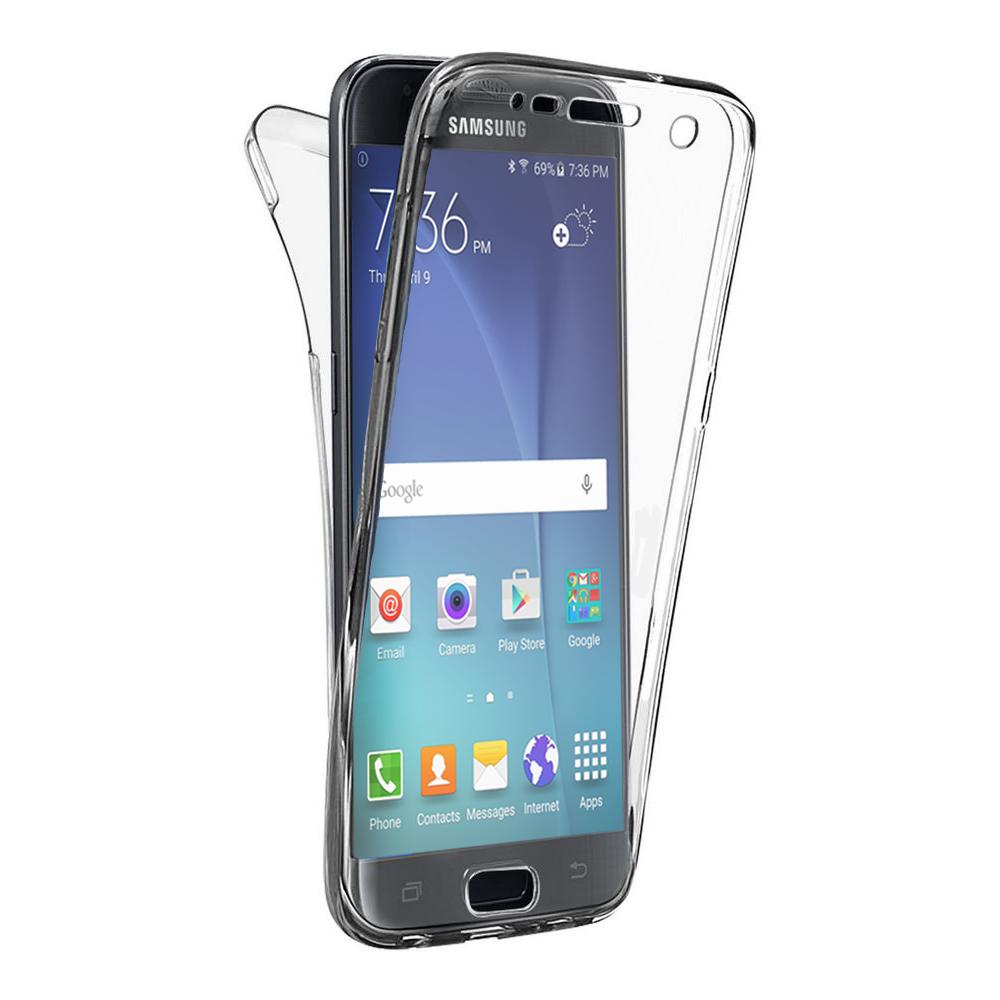 Phonillico - Coque pour Samsung Galaxy CORE PRIME - Housse Etui Gel TPU Silicone Intégrale Transparent Tactile Deux Parties Avant Arrière Emboitable ...