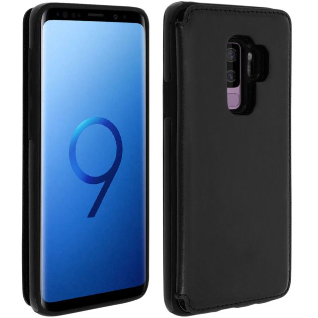 Forcell - Coque Galaxy S9 Plus Protection Antichocs Porte-carte Forcell Wallet noir - Accessoire Smartphone Samsung galaxy s9 plus