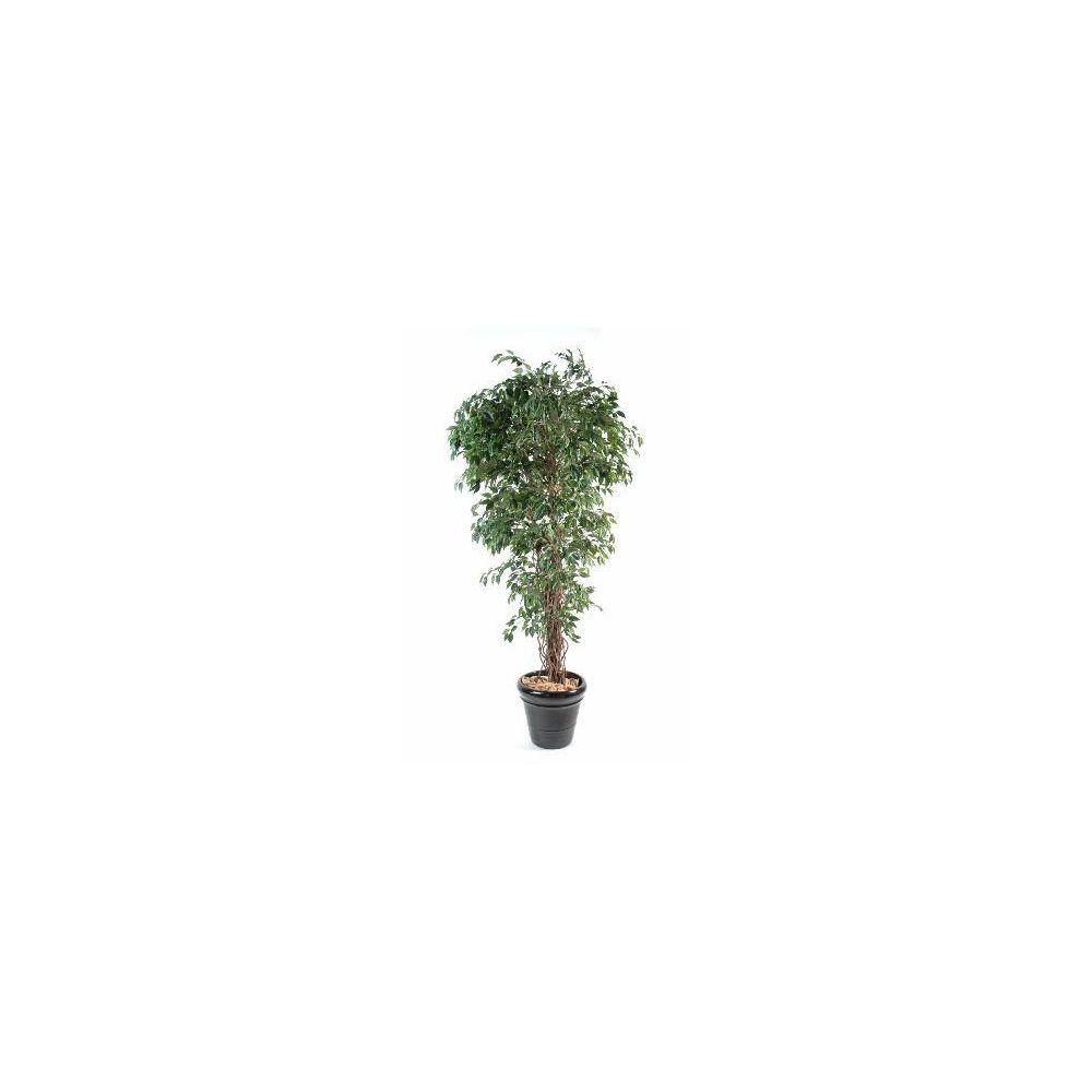 Artificielflower Arbre artificiel Ficus lianes petites feuilles - plante d'intérieur - H.210 cm vert - taille : 210cm