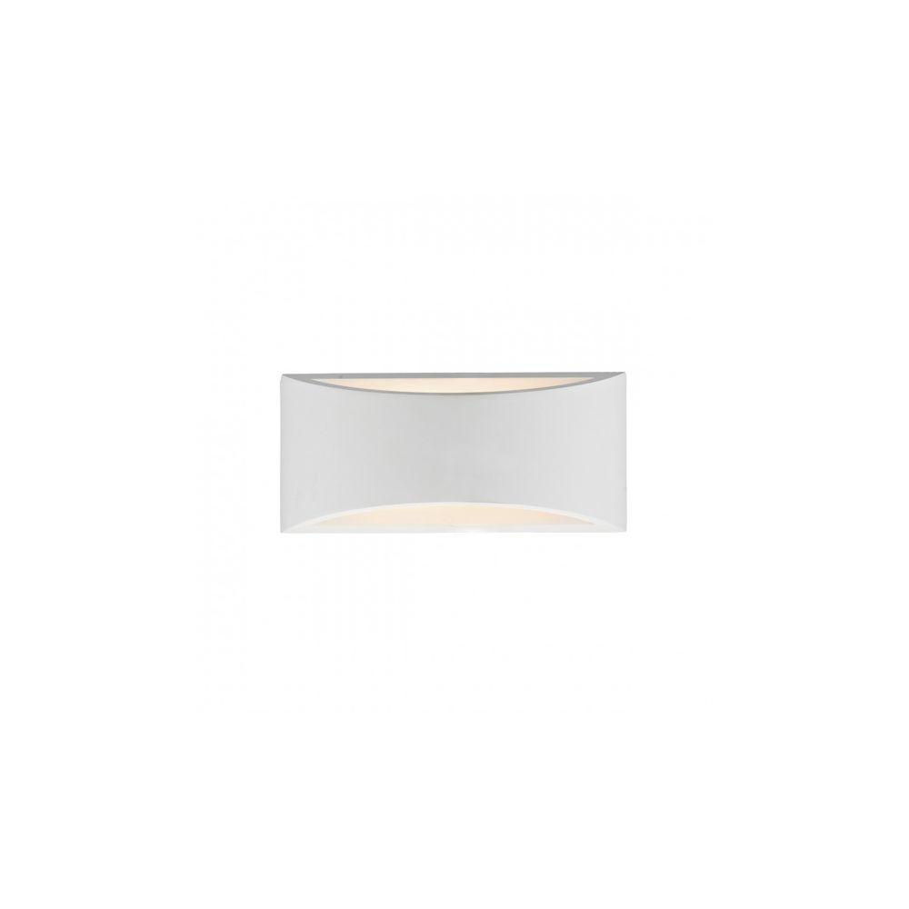 Luminaire Center Applique murale Hove blanc et plâtre 2 ampoules