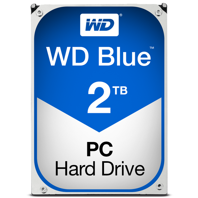 Western Digital - WD BLUE 2 To - 3.5'' SATA III 6 Go/s - Cache 64 Mo - Bleu - Disque Dur interne
