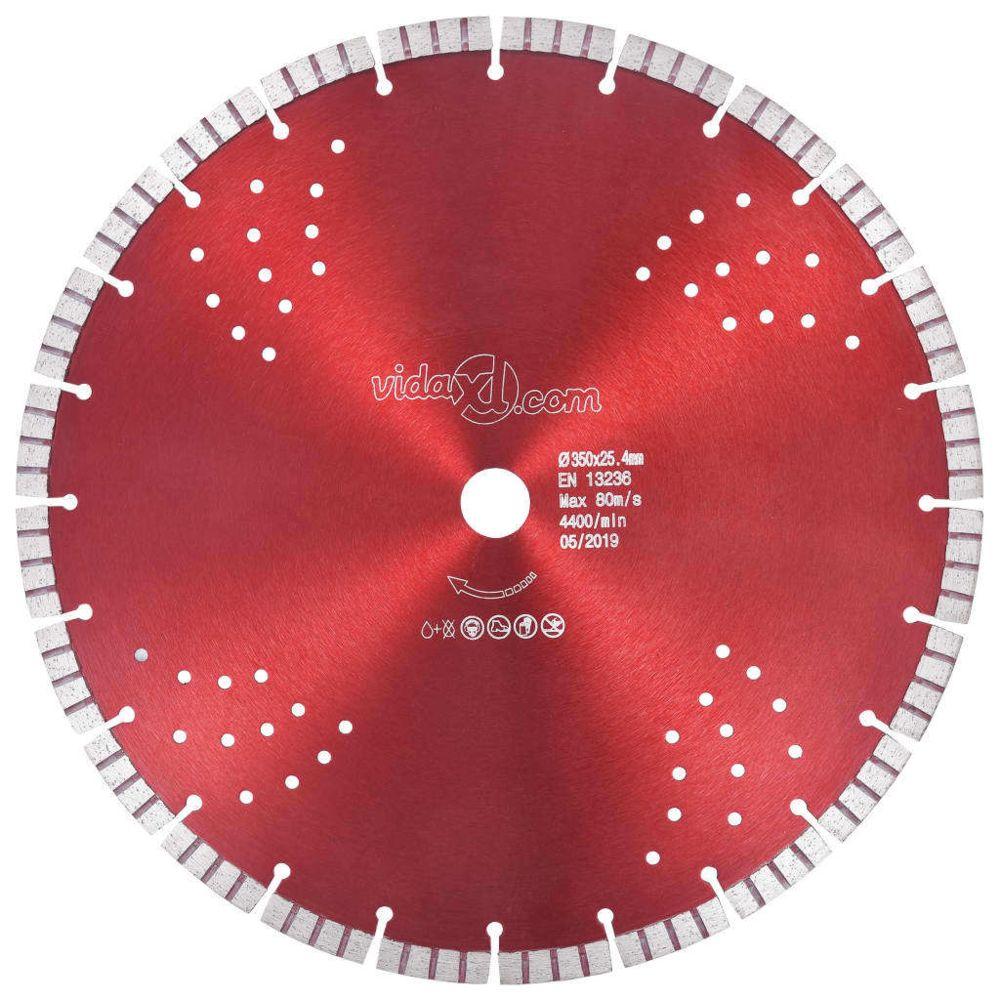 Vidaxl vidaXL Disque de coupe diamanté avec turbo et trous Acier 350 mm