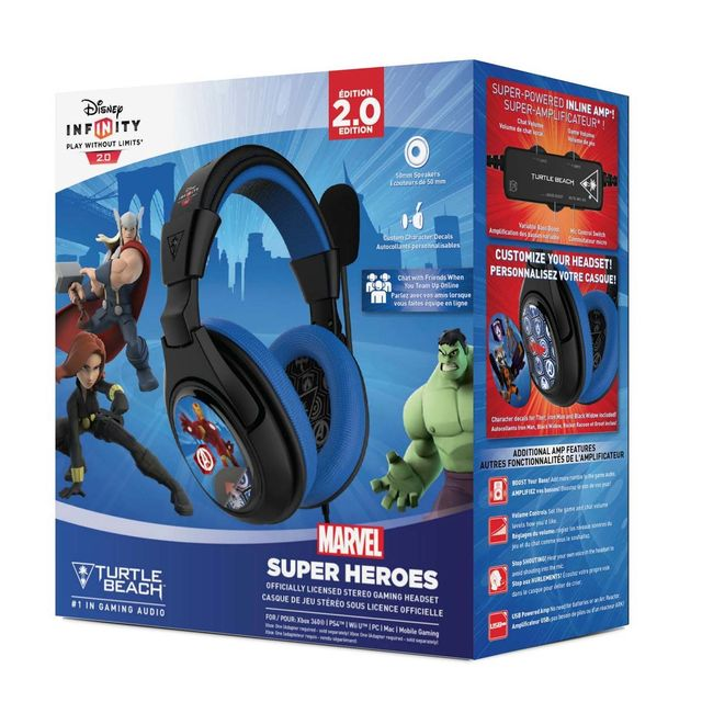 Turtle Beach - Turtle Beach - CASQUE TURTLE BEACH INFINITY MARVEL SUPER HEROS POUR PS4 COMP XBOX 360 WIIU PC - Turtle Beach